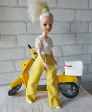 NO DOLL Yellow Plastic Trousers Sindy Barbie Clone Clothes 1980's VINTAGE BSC214