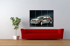 PHOTO SPORT LANCIA DELTA INTEGRALE RALLY CLASSIC CAR GIANT PRINT POSTER NOR0990