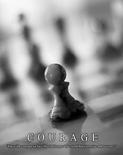 Chess Motivational Poster Art Print Wooden Pieces Board Books Game 11x14  MVP453