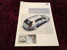 Vauxhall Signum Exclusiv Limited Edition Brochure 2005