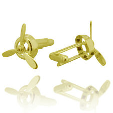 Mens Spinning Cufflinks - Fancy Wedding Novelty - Boat Propellor Cuffs in Gold
