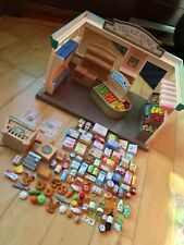 SYLVANIAN FAMILIES Village Store Fully Furnished Lots Of Food Accessories