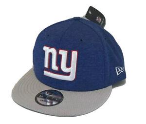 New Era New York Giants 9FIFTY Snapback Flat Bill Hat Blue White Gray G Men