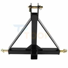 3 Point 2 In Receiver Trailer Hitch Tractor Adapter Heavy Duty Durable Drawbar