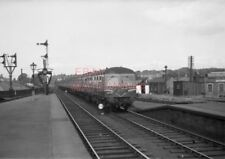 PHOTO  6 CAR INTER CITY SET ARRIVING AT AYR STATION WITH THE 2.0PM GLASGOW (ST.E