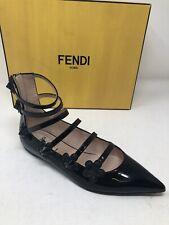 $850 New Fendi Womens Black Shoes Flower Studded Ladies Shoes Size 36.5 6.5