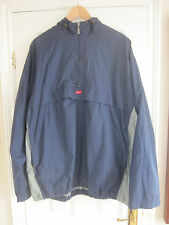 Mens Nike Hooded  Jacket Cagoule Showerproof Navy/ Grey Size XL Fully Lined