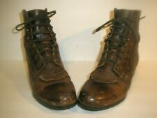 WOMENS ARIAT LEATHER LACE UP WESTERN COWBOY BOOTS SIZE 7