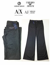 "WOMENS ARMANI JEANS FORMAL PINSTRIPE TROUSERS DARK GREY BNWT 26""W 35""L J08 DR"