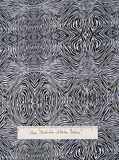 Animal Skin Fabric - Psychedelic Black White Zebra Print Timeless Treasures 25""