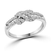 Round Brilliant Fancy Ring 1/4 Carat Diamond in 14K White Gold Over Size 9