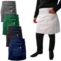 Chefs Bistro Apron Short Money Pocket Waiter / Waitress Kitchen Aprons
