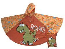 Bugzz Kids Boys Dinosaur Poncho Rain Coat Childrens / Childs Dino Waterproof Mac