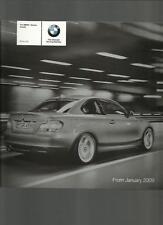 BMW 1 Series COUPE se, es e M SPORT MODELLI LISTINO opuscolo gennaio 2009
