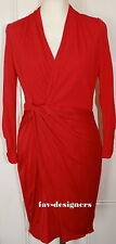 KAREN MILLEN  LONG SLEEVE WITH TWIST/KNOTTED DETAIL PINK DRESS SIZE 10 NEW