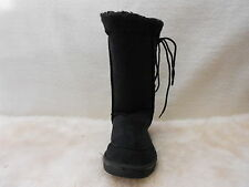 Ugg Boots Tall, Synthetic Wool, Lace Up, Size 9 Lady's/ 7 Men's Colour Black