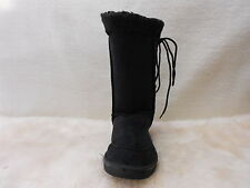 Ugg Boots Tall, Synthetic Wool, Lace Up, Size 5 Lady's Colour Black