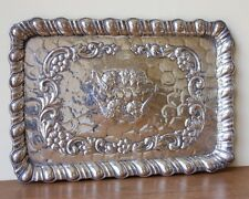Victorian Silver Plated EPNS Dressing Table Repousse Tray with Cherubs Angels