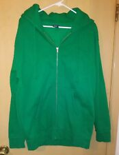 Independent Trading Company Zippered Sweater Size Medium Green