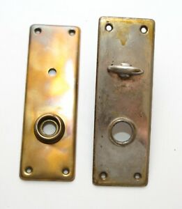 Vintage Back Plate Gold And Silver Pair 2 Back Plate Mortise Key Old Look
