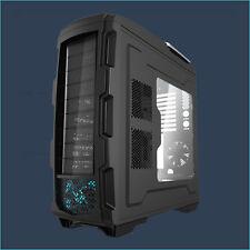 Profi Gamer PC BIG Tower Gehäuse GT1 ATX Black Dual Netzteil System LED-Lüfter