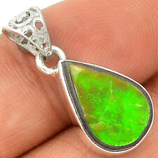 Genuine Canadian Ammolite 925 Sterling Silver Pendant Jewelry SP220303