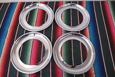 "NOS 16"" Chrome Beauty Trim Rings Hubcaps 1940's 1950's GM Ford Mopar Accessory"