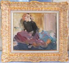 HSt Vladimir Naiditch hommage Lautrec French Cancan peinture tableau école Paris