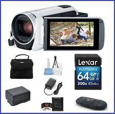 Canon VIXIA HF R800 HD Camcorder (White) 64GB PRO Bundle-Canon Authorized Dealer