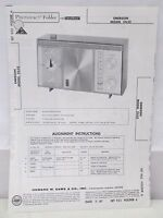 Sams Photofact Folder Parts Manual Emerson Model 31L52 Transistor AM Receiver