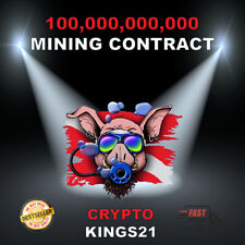 100 BILLION AQUAPIG COINS - MINING CONTRACT - CRYPTO COIN - FAST DELIVERY
