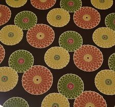 "RICHLOOM SPRINGDALE CHOCOLATE BROWN FLORAL OUTDOOR INDOOR FABRIC BY YARD 54"" W"