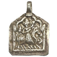 Rare Late Or Post Medieval Pendant W/ Rider On Horse Authentic Old Artifact A
