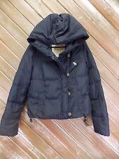 Abercrombie & Fitch Down Puffer Coat W/Hood Navy Blue Women's Size M EUC