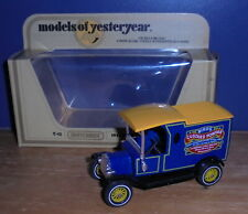 Matchbox Yesteryear Y12 Model T Ford Van Birds Custard Yellow Wheels Issue 4
