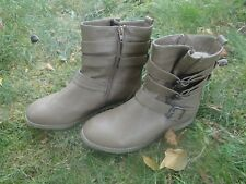 BOOTS FEMME FILLE ADO MARQUE PHILOV POINTURE 38 COM NEUVES KAKI TAUPE CHAUSSURES