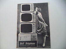 advertising Pubblicità 1962 TELEVISORE BELL TELEPHONE