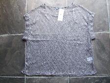 BNWT Women's Hot Options Metallic Grey Lace Top Size 10