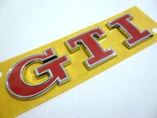 VW Golf GTI Emblem Schriftzug Heck Original 5G0853675AC Chrom Rot Polo GTI sign