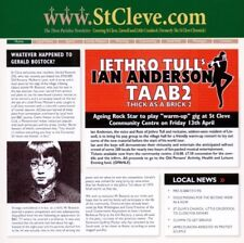 """JETHRO TULL/IAN ANDERSON """"THICK AS A BRICK 2 (STANDARD EDITION)""""  CD NEW"""