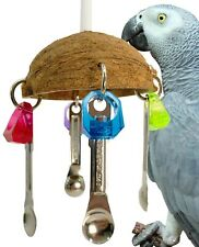 1499 COCO SPOON BIRD TOY parrot cage toys cages african grey conure cockatiel