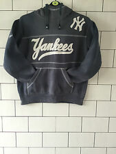 MLB Majestic Athletic Sport Basket New York Yankees Felpa Con Cappuccio Felpa Grigia