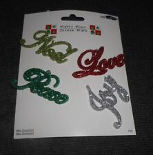 Set of 4 Merry Minis Christmas Holiday Ornaments - New