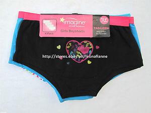 60% OFF! 4-PACK IMAGINE GIRL'S BOYSHORTS PANTIES 6-8 YEARS BNEW IN PACK US$ 9.99
