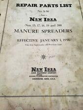 New idea farm equipment No. S-50 For Manure Spreaders 15,17,18,19 & 200 Jan 1958