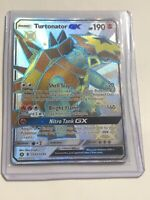 Pokemon Hidden Fates Turtonator GX Shiny SV52/SV94 Holo Mint