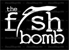 The Fish Bomb Luring Scents -Outdoor- Car/SUV Vinyl Die-Cut Peel N' Stick Decals