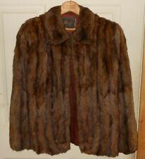 Vintage Brown Mink Fur Stole Cape Macy'S New York
