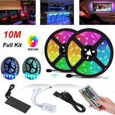 Led Strip Lights 10m 32.8ft Flexible 12V Multi Color RGB 5050 3528 600 leds Tape