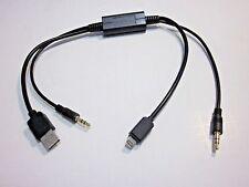BMW iPHONE 5 5S 5C 6 6S 7 3.5MM AUX USB ADAPTER WORKS W X5 X6 Z4 320i MiNi